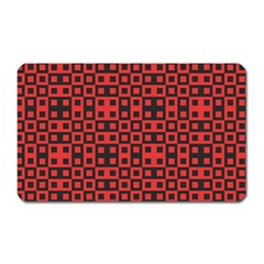 Abstract Background Red Black Magnet (rectangular)