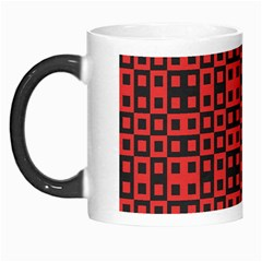 Abstract Background Red Black Morph Mugs