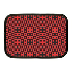 Abstract Background Red Black Netbook Case (medium)