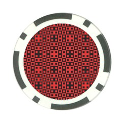 Abstract Background Red Black Poker Chip Card Guard (10 Pack)