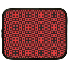 Abstract Background Red Black Netbook Case (xxl)