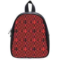 Abstract Background Red Black School Bags (Small)