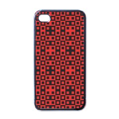 Abstract Background Red Black Apple Iphone 4 Case (black)