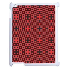 Abstract Background Red Black Apple Ipad 2 Case (white)