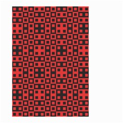 Abstract Background Red Black Small Garden Flag (two Sides)