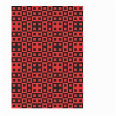 Abstract Background Red Black Large Garden Flag (two Sides)