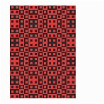 Abstract Background Red Black Large Garden Flag (Two Sides) Back