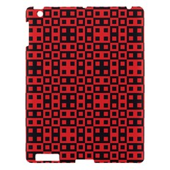 Abstract Background Red Black Apple iPad 3/4 Hardshell Case