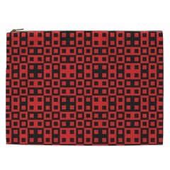 Abstract Background Red Black Cosmetic Bag (XXL)