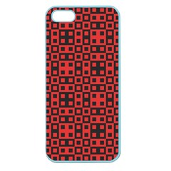 Abstract Background Red Black Apple Seamless iPhone 5 Case (Color)