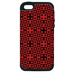 Abstract Background Red Black Apple Iphone 5 Hardshell Case (pc+silicone)