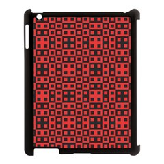 Abstract Background Red Black Apple Ipad 3/4 Case (black)