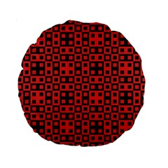 Abstract Background Red Black Standard 15  Premium Round Cushions