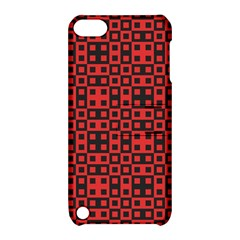 Abstract Background Red Black Apple Ipod Touch 5 Hardshell Case With Stand
