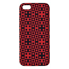 Abstract Background Red Black Apple Iphone 5 Premium Hardshell Case