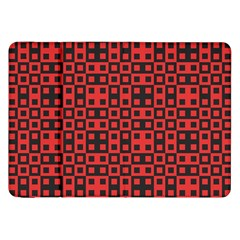 Abstract Background Red Black Samsung Galaxy Tab 8 9  P7300 Flip Case