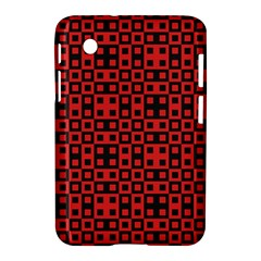Abstract Background Red Black Samsung Galaxy Tab 2 (7 ) P3100 Hardshell Case