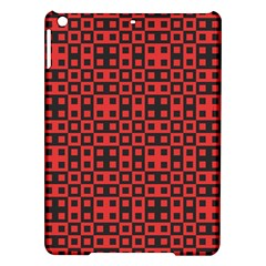 Abstract Background Red Black Ipad Air Hardshell Cases