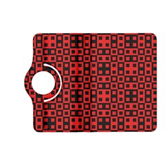 Abstract Background Red Black Kindle Fire Hd (2013) Flip 360 Case