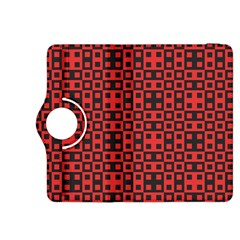 Abstract Background Red Black Kindle Fire Hdx 8 9  Flip 360 Case