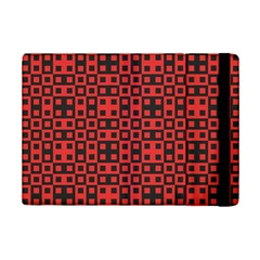 Abstract Background Red Black Ipad Mini 2 Flip Cases