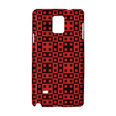 Abstract Background Red Black Samsung Galaxy Note 4 Hardshell Case