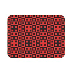 Abstract Background Red Black Double Sided Flano Blanket (mini)