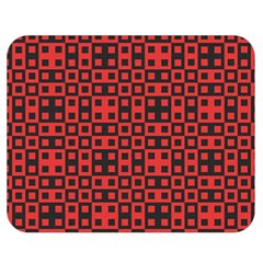 Abstract Background Red Black Double Sided Flano Blanket (medium)