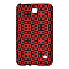 Abstract Background Red Black Samsung Galaxy Tab 4 (7 ) Hardshell Case