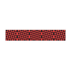 Abstract Background Red Black Flano Scarf (mini)