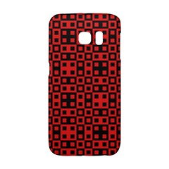 Abstract Background Red Black Galaxy S6 Edge