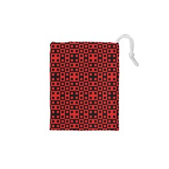 Abstract Background Red Black Drawstring Pouches (xs)