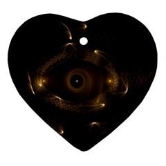 Abstract Fractal Art Artwork Ornament (Heart)