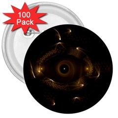 Abstract Fractal Art Artwork 3  Buttons (100 Pack)