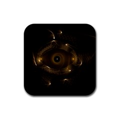 Abstract Fractal Art Artwork Rubber Square Coaster (4 Pack)