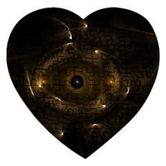 Abstract Fractal Art Artwork Jigsaw Puzzle (heart)