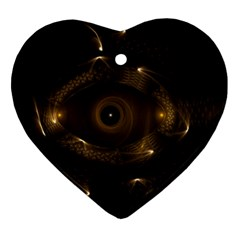 Abstract Fractal Art Artwork Heart Ornament (two Sides)
