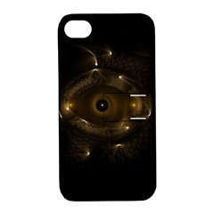 Abstract Fractal Art Artwork Apple Iphone 4/4s Hardshell Case With Stand