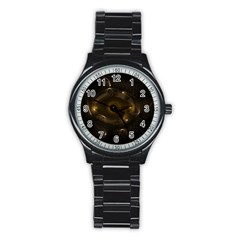 Abstract Fractal Art Artwork Stainless Steel Round Watch