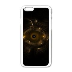 Abstract Fractal Art Artwork Apple iPhone 6/6S White Enamel Case