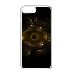 Abstract Fractal Art Artwork Apple Iphone 7 Plus White Seamless Case