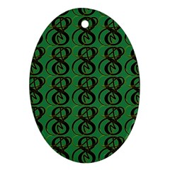 Abstract Pattern Graphic Lines Ornament (oval)