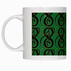 Abstract Pattern Graphic Lines White Mugs