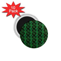 Abstract Pattern Graphic Lines 1.75  Magnets (10 pack)