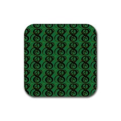 Abstract Pattern Graphic Lines Rubber Square Coaster (4 Pack)