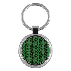 Abstract Pattern Graphic Lines Key Chains (round)