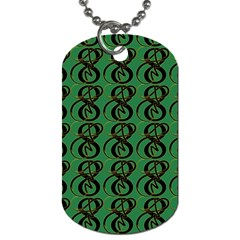 Abstract Pattern Graphic Lines Dog Tag (One Side)