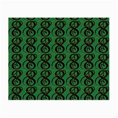 Abstract Pattern Graphic Lines Small Glasses Cloth