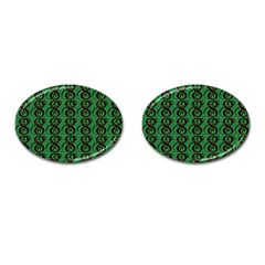 Abstract Pattern Graphic Lines Cufflinks (oval)