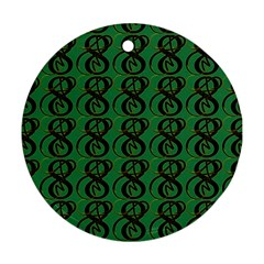 Abstract Pattern Graphic Lines Round Ornament (two Sides)